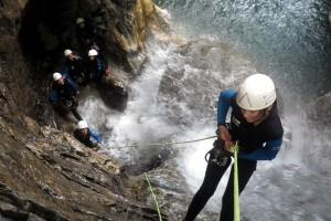 canyon Bious rappel 8m jeune fille