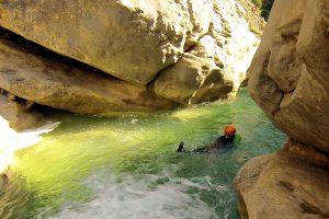 plaisir de la nage dans le canyon du Balces